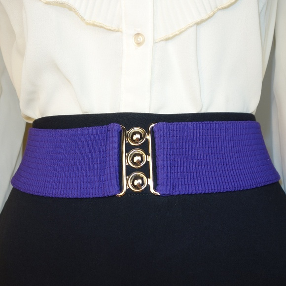 Malco Modes Accessories - Moving Sale!  NWOT Wide Purple Belt